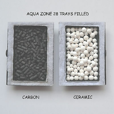 Aqua One -Compatible Aqua Zone 28 Tanks Ceramic Spheres + Carbon  £6.50 F/p '
