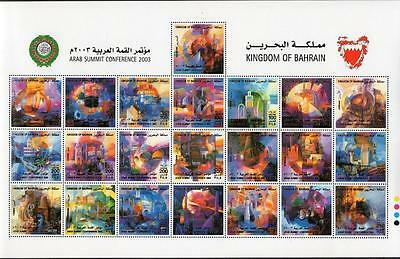 Bahrain Mnh 2003 Arab Conference Sheetlet
