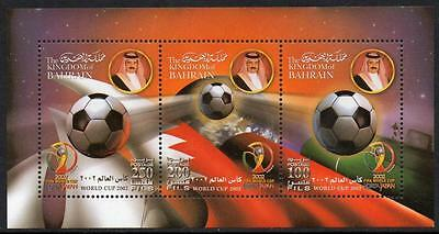 Bahrain Mnh 2002 World Cup Minisheet