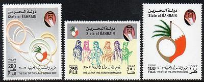 Bahrain Mnh 2002 Arab Woman Day Set