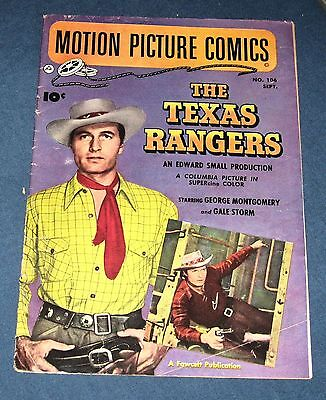 "Motion Picture Comics #106  Sept 1950  ""The Texas Rangers""  George Montgomery"