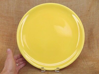 "Vintage CATALINA POTTERY 14"" Plate Platter BRIGHT YELLOW Ink Stamp Mark"