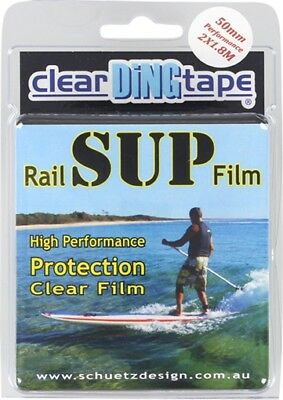 CLEAR DING TAPE SUP RAIL FILM KIT 2qty50mmX1.8mPCS paddleboard