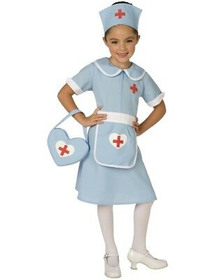 Child Nurse Uniform with Bag Fancy Dress Outfit Kids Book Week Costume