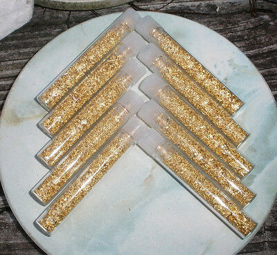 10 Gold flake vials