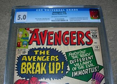 Avengers 10 (1964) CGC 5.0  1st appearance Immortus
