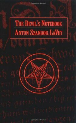 The Devil's Notebook by LaVey, Anton Szandor Paperback Book The Cheap Fast Free