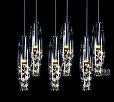 New Modern LED Crystal Glass Ceiling Light Pendant Lamp Chandelier Bar Lighting