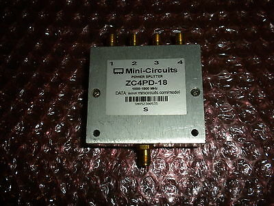 Mini-Circuits ZC4PD-18 1000 to 1800 MHz wide band 4 way
