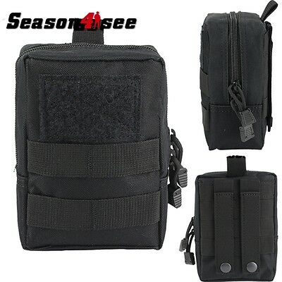 Tactical Military MOLLE Utility Accessory Tool Pouch Bag for Vest Backpack Black