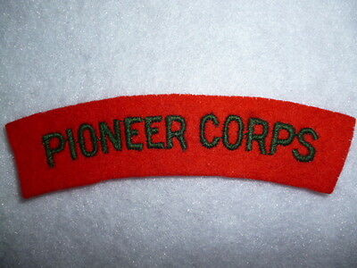 The Pioneer Corps Cloth Shoulder Title