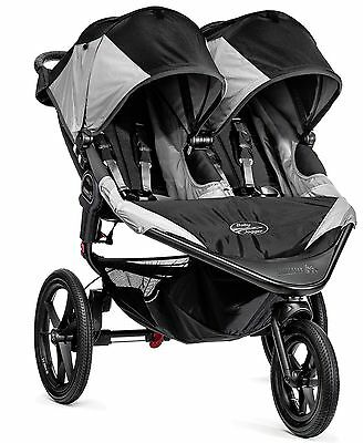 2016 Baby Jogger Summit X3 Twin Double All Terrain Jogging Stroller Black / Gray