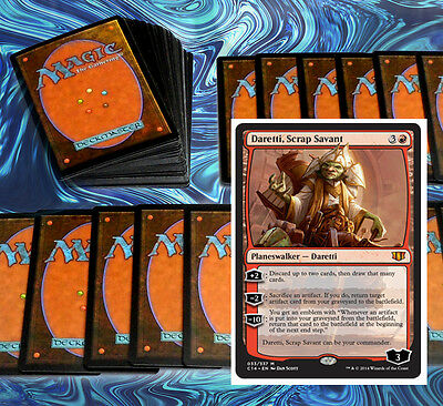 mtg RED ARTIFACT DARETTI DECK Magic the Gathering rare cards