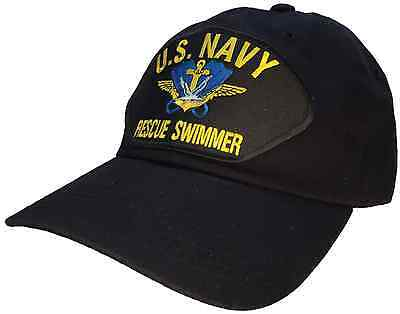 US Navy Rescue Swimmer Hat Black 100% Cotton Ball Cap Style