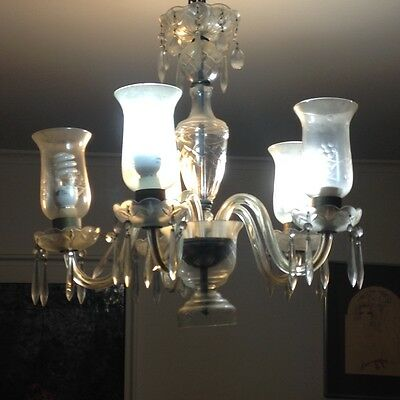 Antique Glass Chandelier -local pickup NYC area