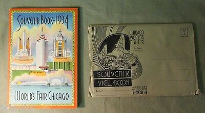 1934 WORLD'S FAIR CHICAGO SOUVENIR BOOK w/ ORIGINAL ENVELOPE CENTURY of PROGRESS