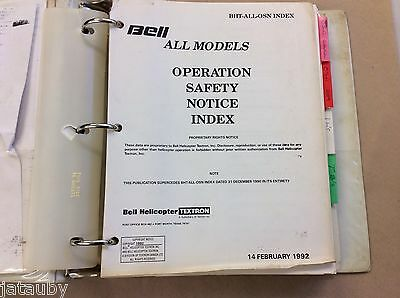 Bell Helicopters All Models Operations Safety Notice Index 1992 Manual