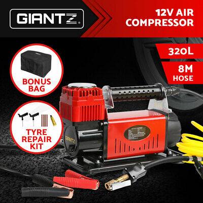 Giantz 320L 12V Air Compressor Tyre Deflator Inflator 4WD 4x4 Car Truck Portable