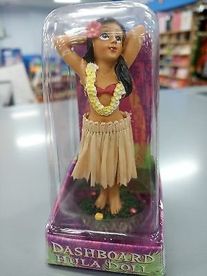 Hawaiian Hawaii  Honolulu Hula Girl Movable  Dashboard Doll 4 inches tall