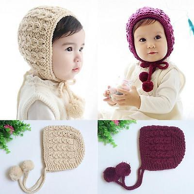Cute Baby Toddler Kid Boys Girls Knitted Crochet Soft Warm Beanie Winter Hat Cap