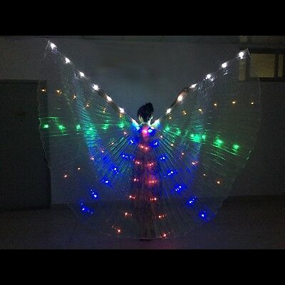 LED Costumes Isis Wings Belly Dance Rechargeable Led Wings Fancy Light Up Show