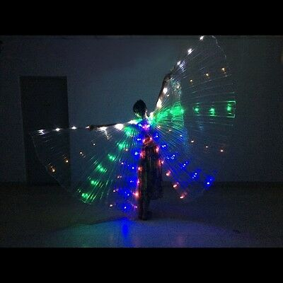 Led Isis Wings Rechargeable Belly Dance Club Show Rainbow LED Isis Wings Costume
