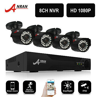 ANRAN 720P 1800TVL AHD Security Outdoor CCTV Camera System HDMI Video DVR IP66