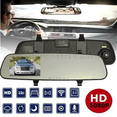 2.4'' Rear View Mirror Driving Recorder DVR HD 1080P Car Rearview Video Camera