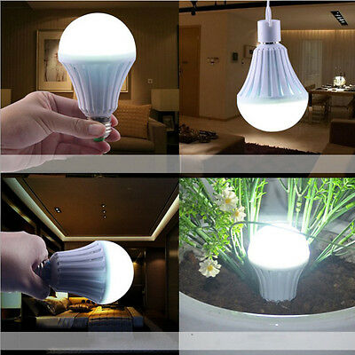 E27 Rechargeable Emergency Light LED Bulb Intelligent Lamp Work After Blackout