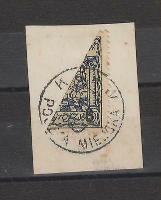 POLAND,locals,bisect stamp used on cut