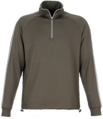 Dunning Thermal Stripe 1/4 Zip Juniper/Charcoal Medium - mens golf outerwear