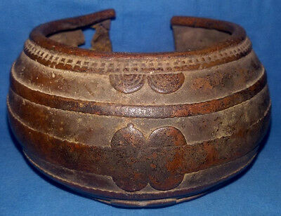 Very Old Bronze Bracelet supposedly 19 century AD. Collectible Vintage Artifact.
