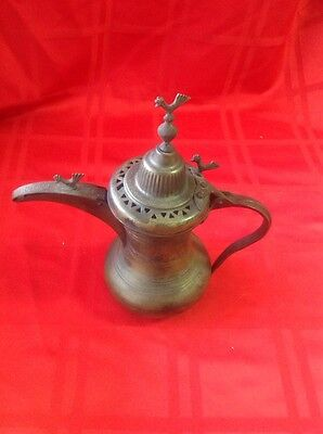 Antique Persian Bedouin Arabian Turkish Brass  DALLAH COFFEE POT • CAD $125.22