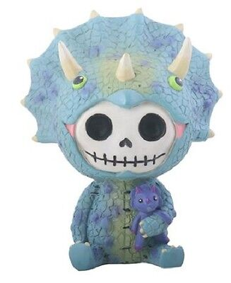 Furrybones Spike Skeleton Dressed in a Triceratops Dinosaur Costume Figurine New