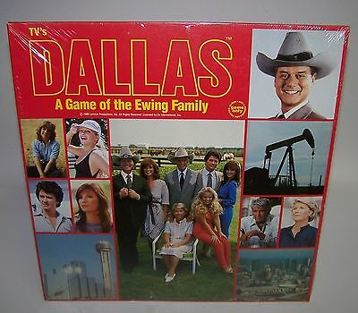 TVs Dallas A Board Game of the JR Ewing Family SEALED 1980 Yaquinto HG