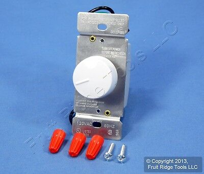 Ace White Rotary Dimmer Switch Control Preset Push ON/OFF Single Pole 600W 34049
