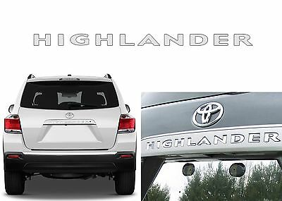 Chrome Rear Letters Inserts For 2008-2013 Toyota Highlander New Free Shipping