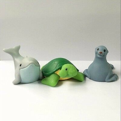 3x Fisher-Price Little People Zoo Park Seal Dolphin Turtle Baby Doll - no sound