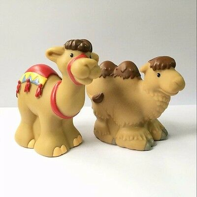 2x Fisher-Price Little People Zoo Park Animal Camel figure Baby Boy Toy Doll