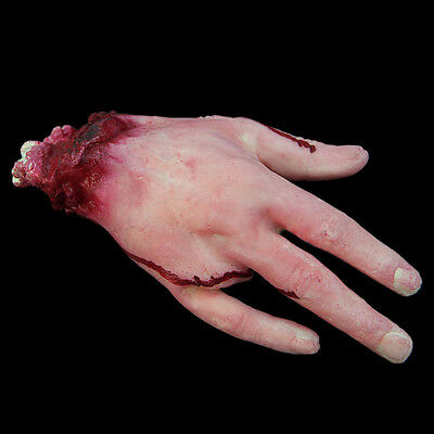 Halloween Horror Props Lifesize Party Bloody Hand Haunted House Scary Decoration