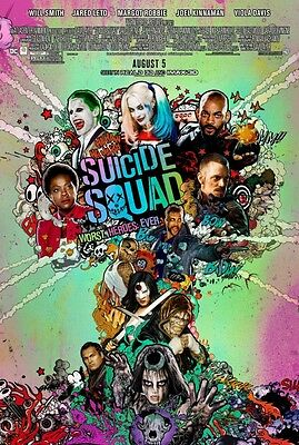 """SUICIDE SQUAD 2016 Original DS 2 Sided 27x40"""" Movie Poster Will Smith M Robbie"""