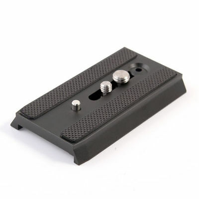 """501PL Sliding Quick Release QR Plate 1/4"""" 3/8"""" for Manfrotto 503 701 501 Tripod"""