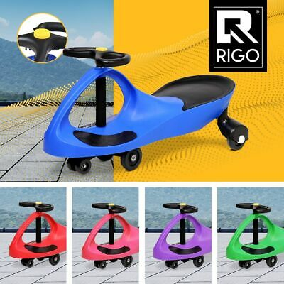 RIGO Swing Car Swivel Slider Kids Ride On Toys Children Wiggle Scooter Safe