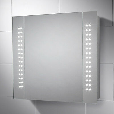 Led Illuminated Bathroom Cabinet Mirror With Sensor Switch & Demister Pad Harlow