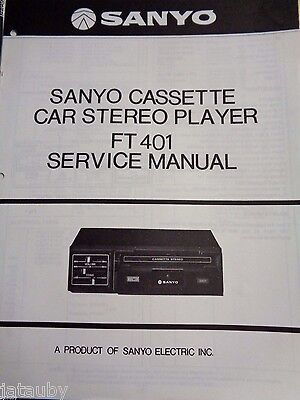 sanyo 8 track vintage car stereo player owners service manual ft816 rh picclick com sony car stereo manual download Car Stereo Cassette