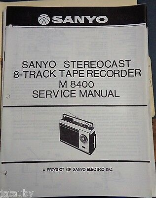 sanyo vintage original stereocast 8 track tape recorder m 8400 rh picclick com Cell Phone Sanyo 8400 Sanyo 3200 Dark Blue