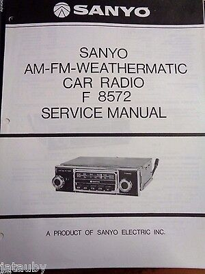 sanyo vintage car radio service manual f8508 13 38 picclick rh picclick com Vintage 8 Track Car Stereo with Cassette Player Old Sanyo Stereo
