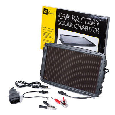 The AA Essentials 12V Solar-Powered Car Battery Charger Solar Panel OBD Version