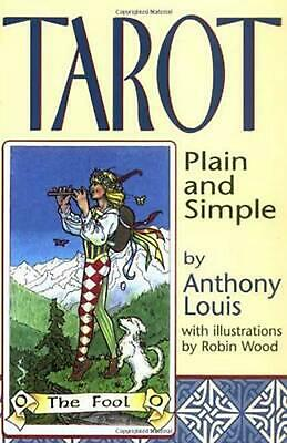 Tarot Plain and Simple by Anthony Louis (English) Paperback Book Free Shipping!