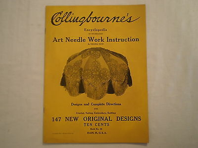 Antique 1915 Collingbourne's Crochet Embroidery Illustrated Instruction Book